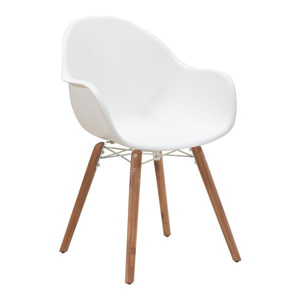 Chaise Tidal, blanc, ensemble de 4