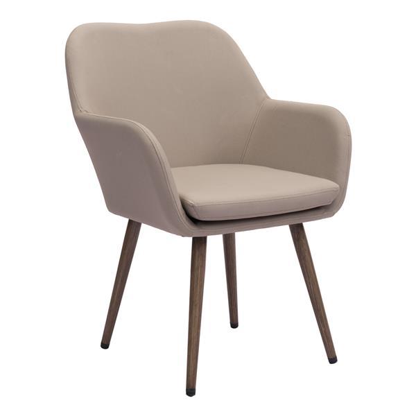 Chaise d'extérieur Pismo de Zuo Modern, 34,5 po x 25,5 po, beige