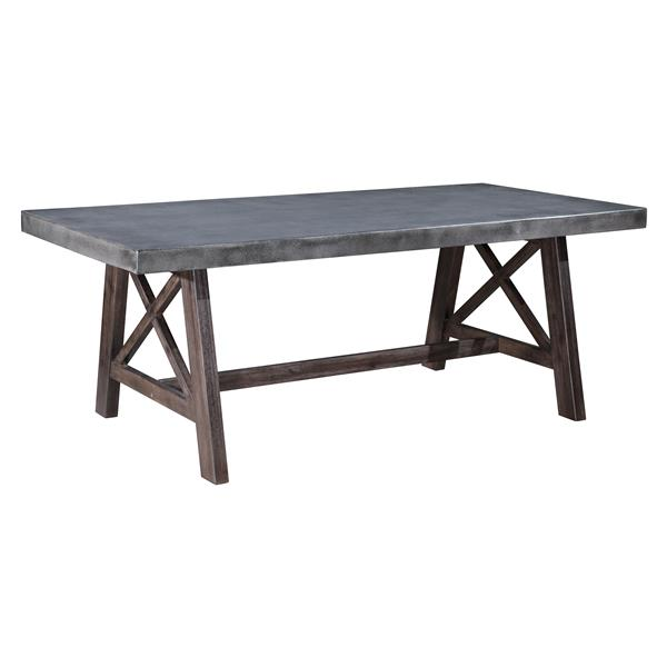 Ford Dining Table - Cement and Natural