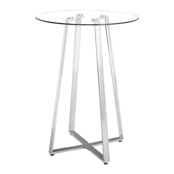 Zuo Modern Lemon Drop Bar Table - Chrome