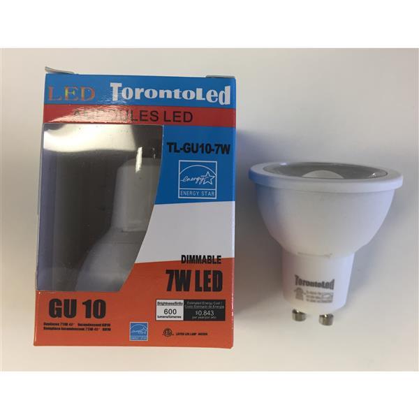 TorontoLed LED COB GU10 Bulb - 10 PK - White