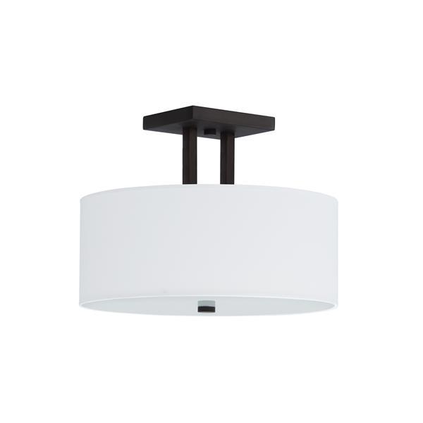 Whitfield Lighting Semi-Flush Mount Light - 3 Lights - 15-in - Bronze