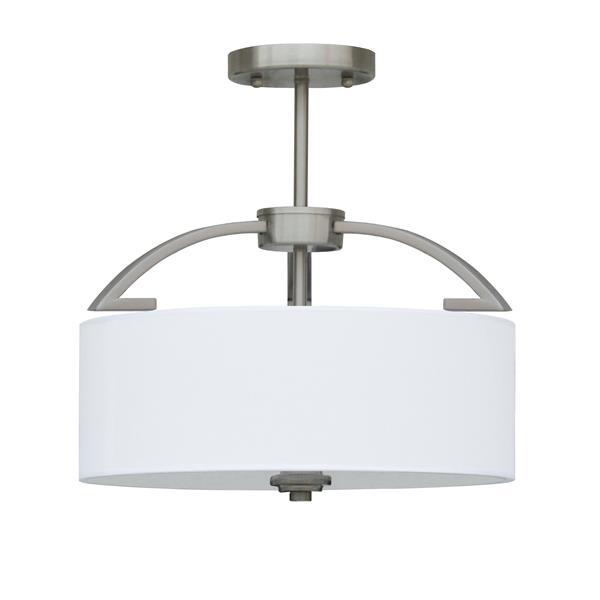 Whitfield Lighting Semi-Flush Mount Light - 3 Lights - 14-in x 13.6-in - Stainless
