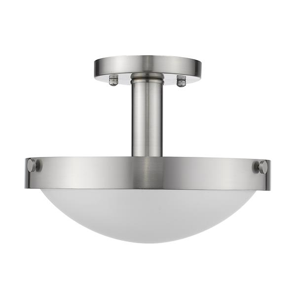 Whitfield Lighting Semi-Flush Mount Light - 2 Lights - Glossy Stainless Steel