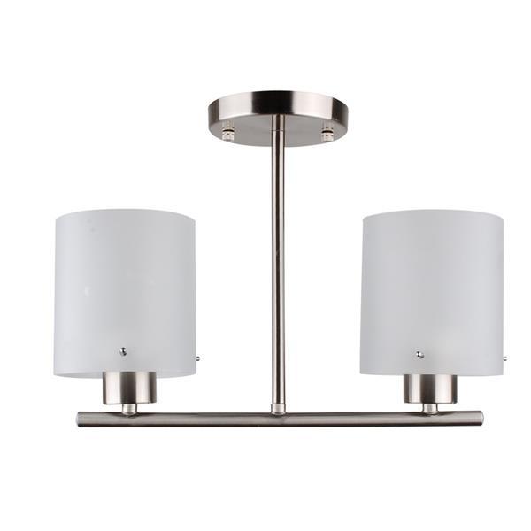 Whitfield Lighting Semi-Flush Mount Light - 2 Lights - 13.5-in x 11-in - Glossy White