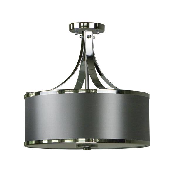 Whitfield Lighting Semi-Flush Mount Light - 3 Lights - 15.4-in x 16-in - Dark Gray