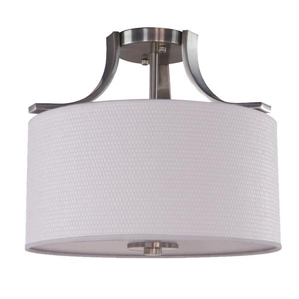 Whitfield Lighting Semi-Flush Mount Light - 2 Lights - 15.25-in x 11.75-in - Satin