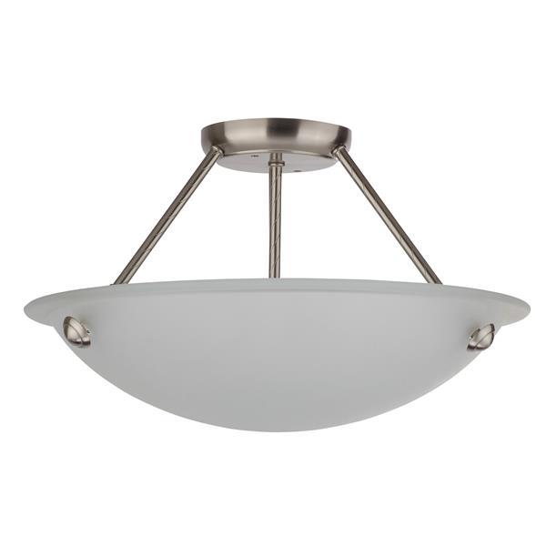 Whitfield Lighting Semi-Flush Mount Light - 3 Lights - 182 x 16-in - Glossy Steel