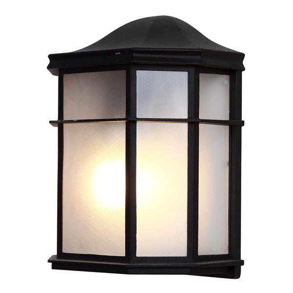 Whitfield Lighting Outdoor Wall Mount Light - 1 Light - 9.75-in x 7.75-in - Black