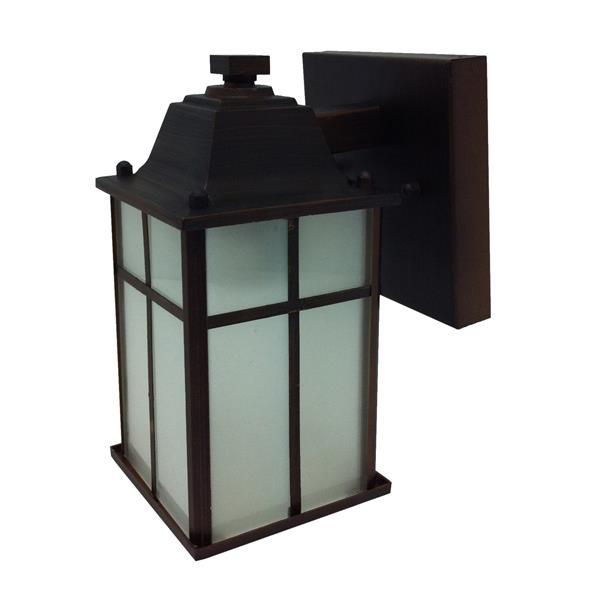 Whitfield Lighting Jordan Outdoor Wall Mount Light - 1 Light - 8.25-in x 4.75-in - Black