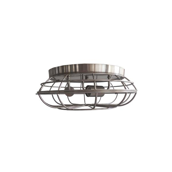 Whitfield Lighting Chyenne Flush Mount Light - 3 Lights - 15-in - Glossy Steel