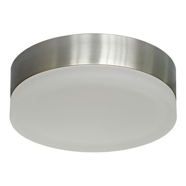 Whitfield Lighting Tiffany Flush Mount Light - 2 Lights - Glossy Steel