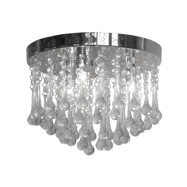 Whitfield Lighting Mindy Flush Mount Light - 3 Lights - 12-in - Crystal Glass