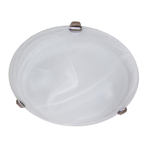 Whitfield Lighting Standard Flush Mount Light - 2 Lights - 4-in x 12-in - Satin Steel