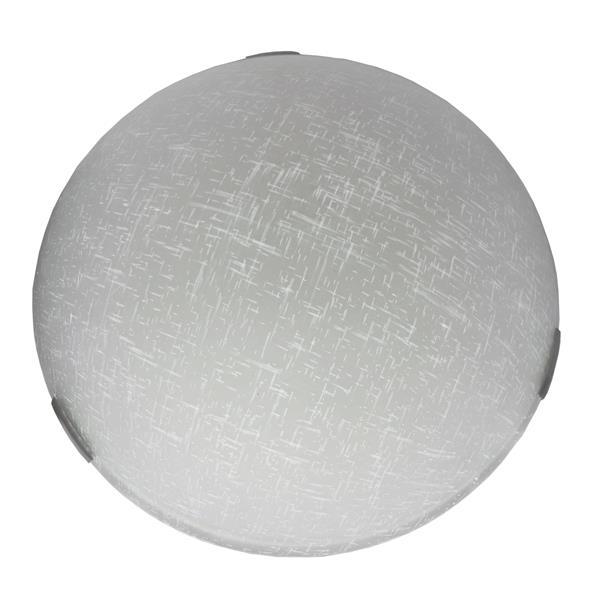 Whitfield Lighting Flush Mount Light - 2 Lights - 3.75-in x 12-in - White Linen Shade Glass