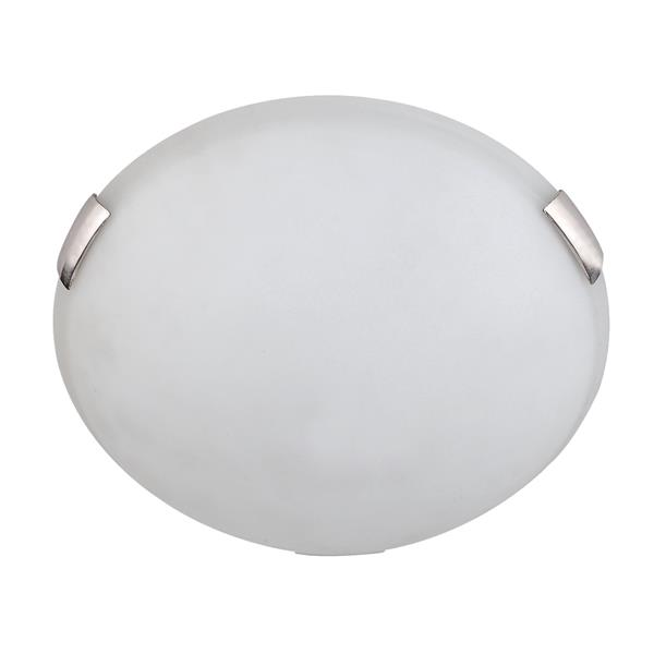 Whitfield Lighting Flush Mount Light - 2 Lights - 3.75-in x 12-in - Satin Steel