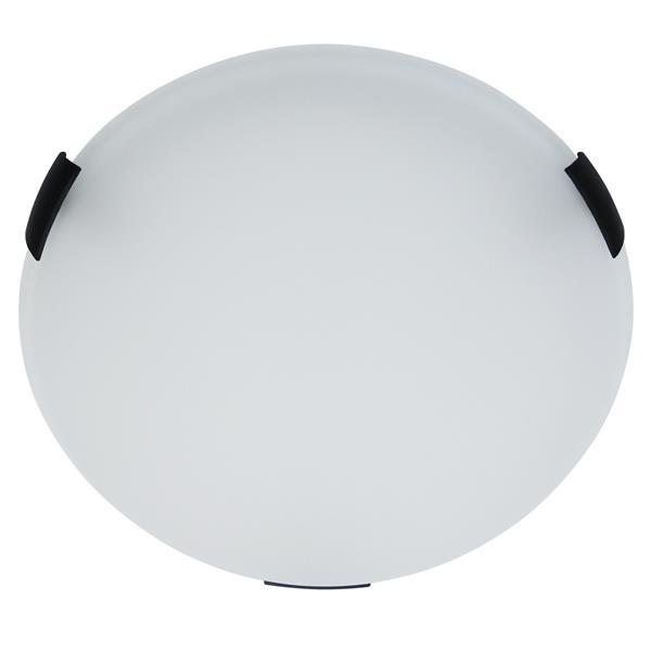 Whitfield Lighting Round Standard Flush Mount Light - 2 Lights - 3.75-in - Black