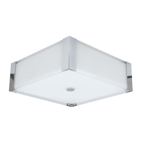 Whitfield Lighting Square Flush Mount Light - 3 Lights - 4.7-in x 14-in - Chrome