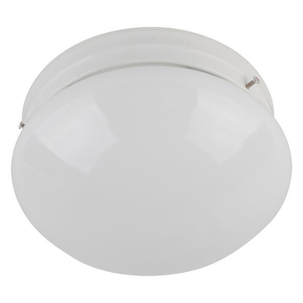 Whitfield Lighting Shroom Flush Mount Light - 1 Light - 3-in x 6-in - White