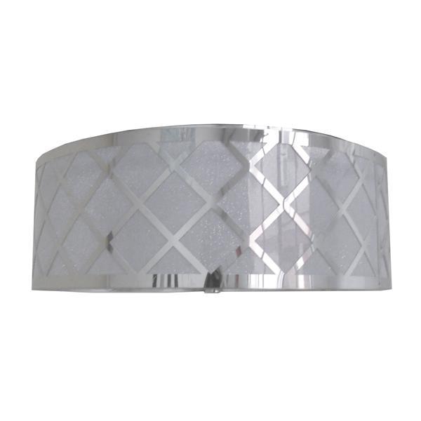 Whitfield Lighting Dana Flush Mount Light - 2 Lights - 5-in x 14-in - Polished Chrome
