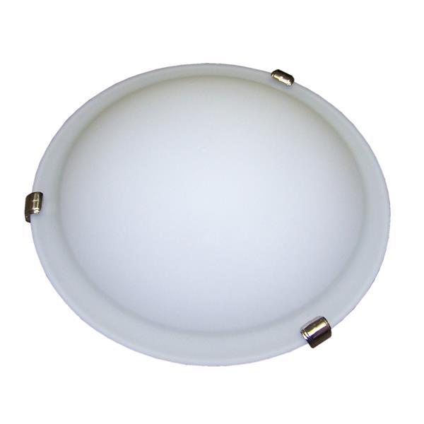 Whitfield Lighting Standard Flush Mount Light - 3 Lights - 5-in x 16-in - Satin Nickel