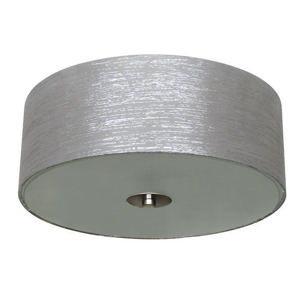 Whitfield Lighting Modena Flush Mount Light - 2 Lights - 14-in x 5-in, Grey