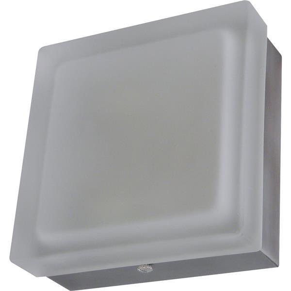 Whitfield Lighting Vonte Flush Mount Light - 2 LED Lights - 3.15-in x 9-in - Brushed Pewter