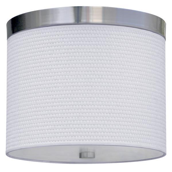 Whitfield Lighting Flush Mount Light - 2 LED Lights - 8-in x 10-in - White Fabric