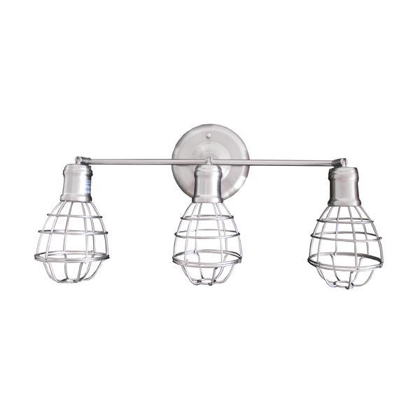 Whitfield Lighting Chyenne Vanity Light - 3 Lights - Wall-Mount - Satin Steel