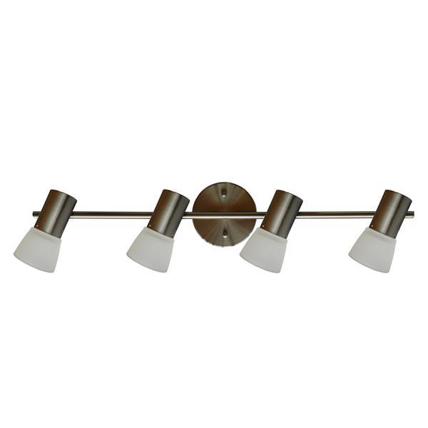 Whitfield Lighting Vanity Track Light - 4 Lights - 26.8-in - Satin Steel