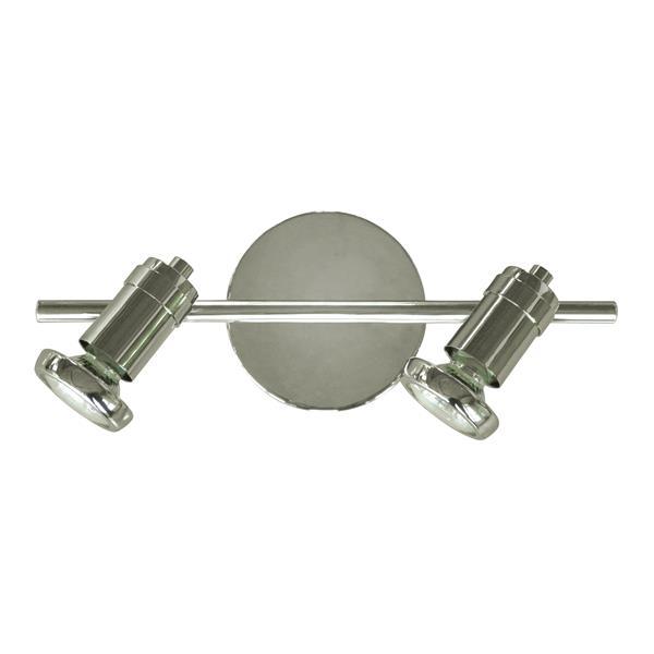 Whitfield Lighting Sheldon Vanity Track Light - 2 Lights - 13-in - Chrome