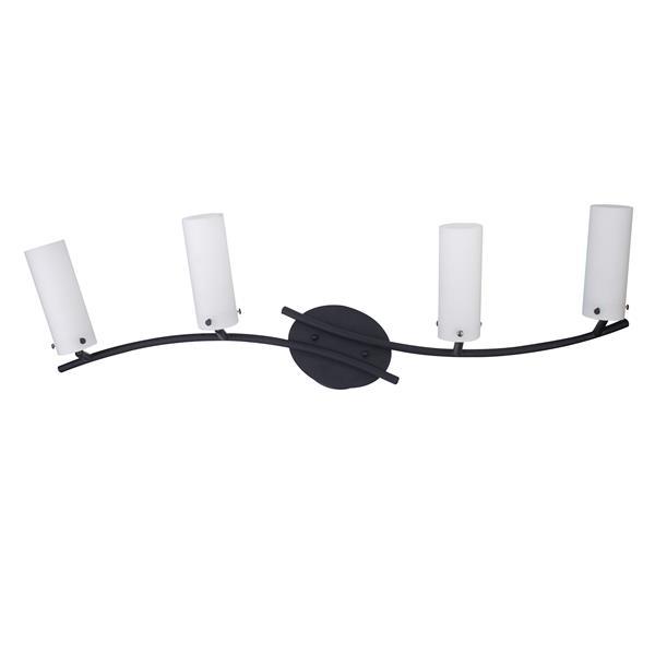 Whitfield Lighting Hestia Vanity Track Light - 4 LED Lights - 34-in - Black