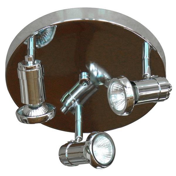 Whitfield Lighting Sheldon Flush Mount Light - 3 Lights - 9.85-in - Chrome