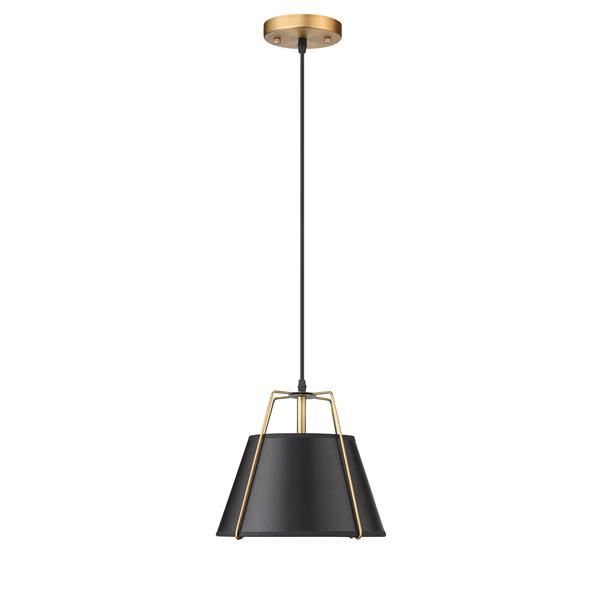 Whitfield Lighting Talina Pendant Light - 1 Light - 9-in - Black and Gold