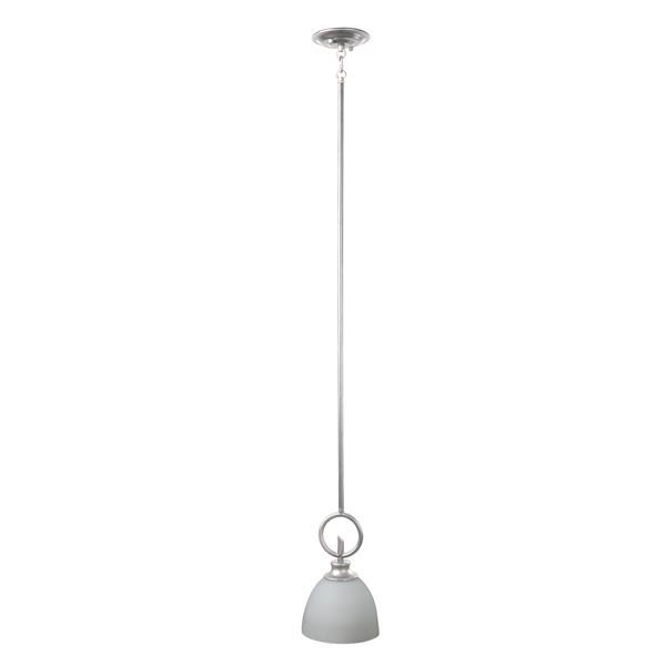 Whitfield Lighting Kelsey Pendant Light - 1 Light - 6-in - Brushed Pewter