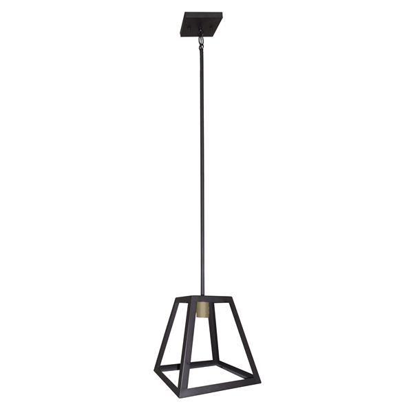 Whitfield Lighting Qadira Pendant Light - 1 Light - 10.5-in - Ebony Bronze/Gold