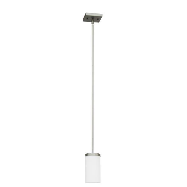 Whitfield Lighting Armella Pendant Light - 1 Light - 9-in - Satin Steel