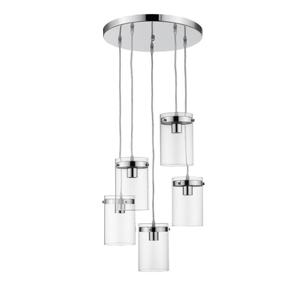 Whitfield Lighting Pendant Light - 5 Lights - 7.5-in - Polished Chrome