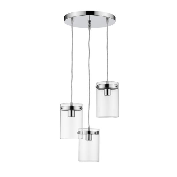 Whitfield Lighting Pendant Light - 3 Lights - 7.5-in - Polished Chrome