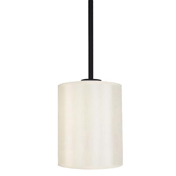 Whitfield Lighting Falcon 1-Light Pendant - 8-in - Ebony Bronze
