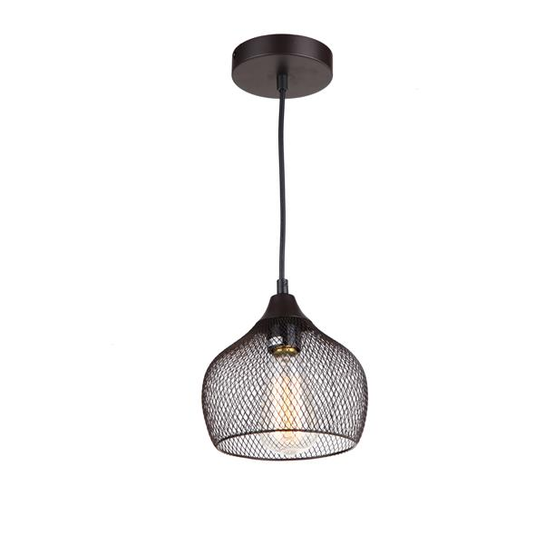 Whitfield Lighting 1-Light Industrial Pendant Light - 7.5-in x 7.5-in - Grey