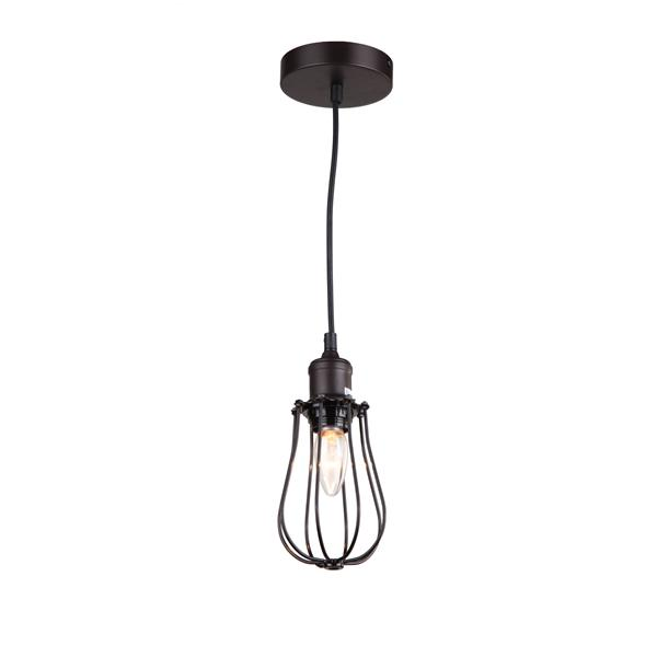 Whitfield Lighting 1-Light Pendant Light - 6.3-in x 4.5-in - Bronze