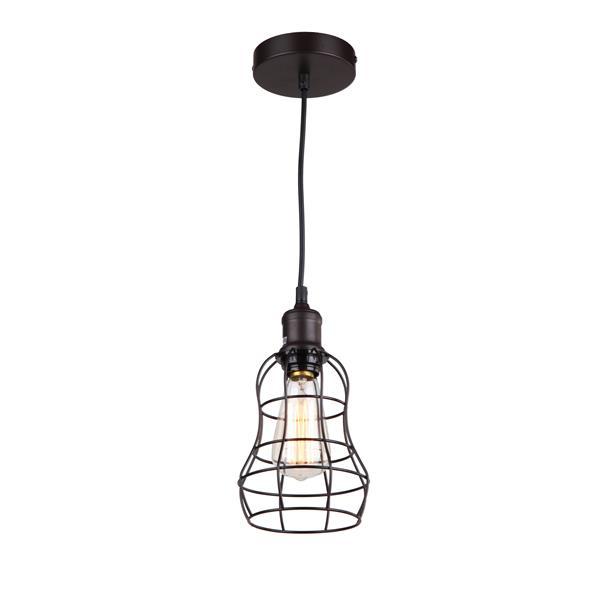 Whitfield Lighting 1-Light Pendant Light - 7-in x 5.75-in - Bronze