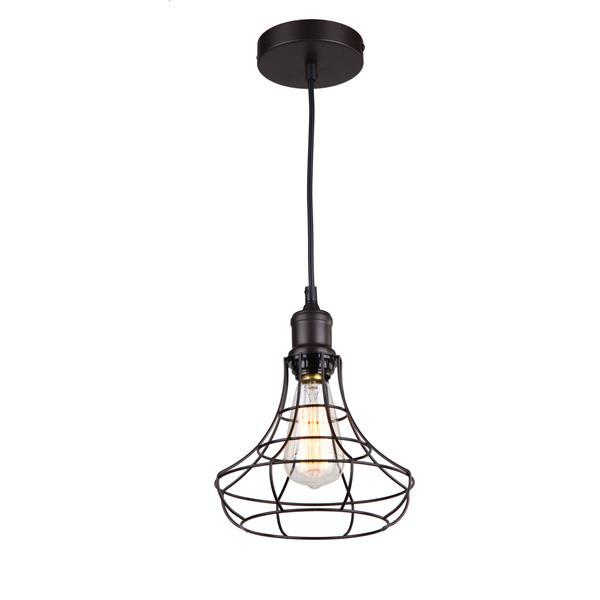 Whitfield Lighting 1-Light Pendant Light - 7-in x 8.3-in - Bronze