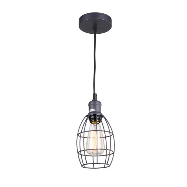 Whitfield Lighting 1-Light Pendant Light - 6.75-in x 5-in - Dark Grey