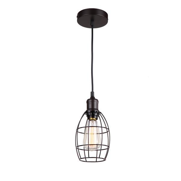 Whitfield Lighting 1-Light Pendant Light - 6.75-in x 5-in - Bronze
