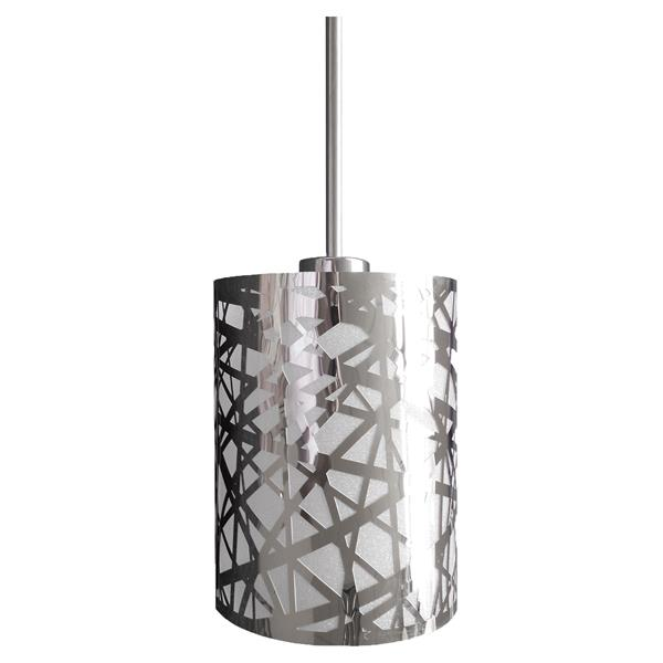Whitfield Lighting 1-Light Wynne Pendant Light - 10-in x 6-in - Chrome