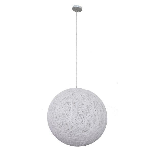 Whitfield Lighting 1-Light Pendant Light - 27.5-in x 27.5-in - White