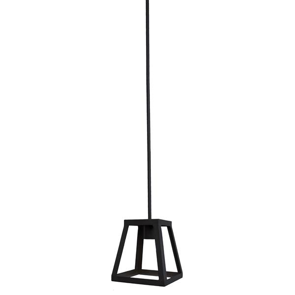Whitfield Lighting 1-Light Pendant Light - 7-in x 7-in - Black