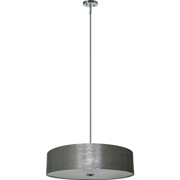 Whitfield Lighting 5-Light Chandelier with Shade - 7-in x 30-in - Dark Grey
